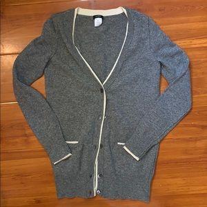 J crew cashmere wool cardigan